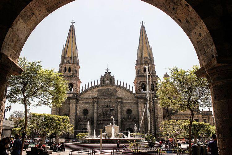 Fachada de la Catedral de Guadalajara